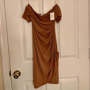 Knit Dress - Camel